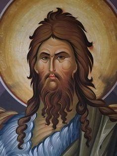 Byzantine Icons, John The Baptist, Orthodox Icons, Bible Art, All Saints, Christ, Literature, Pizza, Angel