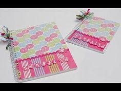 Aprenda a fazer esse lindo caderno decorado usando tecido .