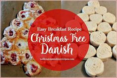 Recipe Christmas Tree Cream Cheese Danish Need an easy last minute recipe to serve for breakfast on Christmas morning? Try this easy pull apart Christmas tree cream cheese danish. Christmas Brunch, Christmas Breakfast, Christmas Desserts, Holiday Treats, Christmas Treats, Christmas Baking, Holiday Recipes, Christmas Morning, Christmas Recipes