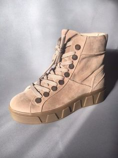 Women's Beige Faux Suede Ankle Boots with Fur Lining UK Size Made Fur Boots, Suede Ankle Boots, High Tops, High Top Sneakers, Wedges, Ebay, Shoes, Fashion, Moda