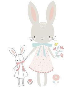 Sticker Chambre Enfant Lapin Fille Flora Waycott Lilipnso Wall Stickers For Girls Flora