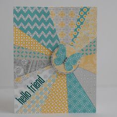 Make this using stampin up designer series paper