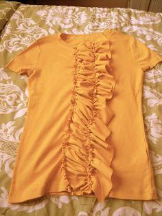 ruffled shirt tutorial