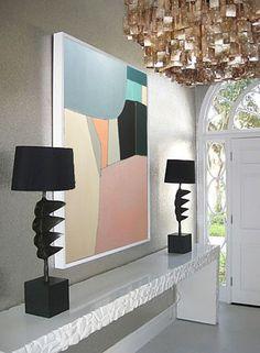 Abstract oil painting geometria от juliakotenko на Etsy