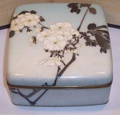 Early Namikawa Sosuke Japanese Meiji Cloisonne Enamel Box Japanese Screen, All Japanese, Japanese Style, Lacquer Paint, Enamel Paint, Japanese Porcelain, Pretty Box, Japanese Painting, China Painting