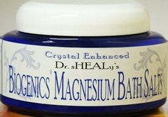 Dr. Shealy's Biogenics Magnesium Bath Salts (pint) by Dr Shealy. Save 12 Off!. $15.35. Helps to raise intracellular magnesium and DHEA hormones. Accomplish the same benefits as lotion with a refreshing bath soak.   Contents: Magnesium chloride, Dead Sea Salts, aroma oil(s).   For use as a hot soak: Place one-forth to one-half cup of the bath salts in a tub of pleasantly warm water. Soak 20 to 30 minutes.