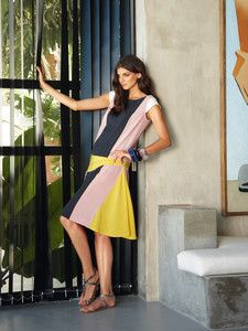 burda style: Damen - Langgrößen - Kleider & Röcke - Kleid - Formblende, seitliches Godet