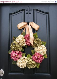 WREATH SALE Spring/Summer Wreaths,Summer Sale Wreaths, Spring Wreath for Door,Wreath, Etsy Wreaths, Summer Hydrangeas, Wreaths for Summer