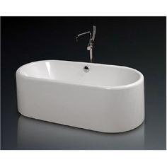 Cada de baie freestanding, cu montaj pe pardoseala, de la producatorul West, model Briseide, disponibila cu dimensiuni de 170x80 cm, fabricata din acril 100%, culoare alb. Bathtub, Model, Standing Bath, Bathtubs, Bath Tube, Scale Model, Models, Template