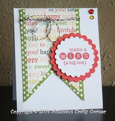 "Sewn Handmade Birthday Card using Carta Bella's ""It's a Celebration"" papers.  Made by autumnscraftycorner.com"
