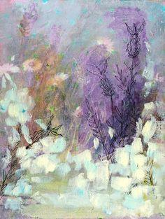"Saatchi Online Artist: Clair Bremner; Paint, 2012, Mixed Media ""Lavender fields"""