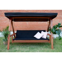 Lautan Avoca 3 Seat Porch Swing Daybed & Reviews | Wayfair