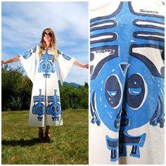 THANDEKA Vintage African Kaftan Dress Angel by SurfandtheCity, $225.00