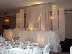 Head Table Wedding Backdrop 8'High x 8'w Swag 4'w x 8'High Tall | eBay