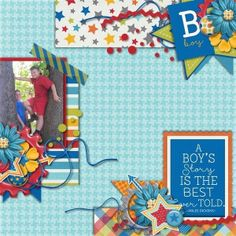 Layout using {It's A Boy Thing Collection} by Tickled Pink Studio and Megan Turnidge http://www.sweetshoppedesigns.com/sweetshoppe/product.php?productid=28347&cat=0&page=2