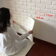 "7.99AUD - 5"" 3D Effect Stone Brick Textured Vinyl Waterproof Wallpaper Self-Adhesive Lot #ebay #Home & Garden"