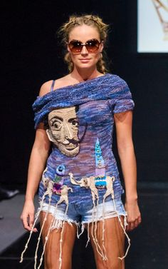 Sweater SALVADOR DALI  summer knitted top by annalesnikova on Etsy, $1650.00