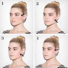 Blush Placement Breakdown: Where to Apply and Why Because the application location can change your whole look. Blush Placement Breakdown: Where to Apply and Why Because the application location can change your whole look. Beauty Make-up, Beauty Makeup Tips, Beauty Hacks, Hair Beauty, Makeup Tricks, Makeup Goals, Where To Apply Blush, How To Apply Bronzer, How To Blush