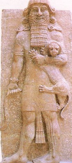 *Bas-relief of Gilgamesh from 8th century BC, Gilgamesh was king in Uruk of Mesopotamia which is now modern day Iraq, Iran, Syria and Turkey. The Epic of Gilgamesh was found in the ruins. Also,  records of ancient aliens exist on the Summerian, Mesopotamia tablets.