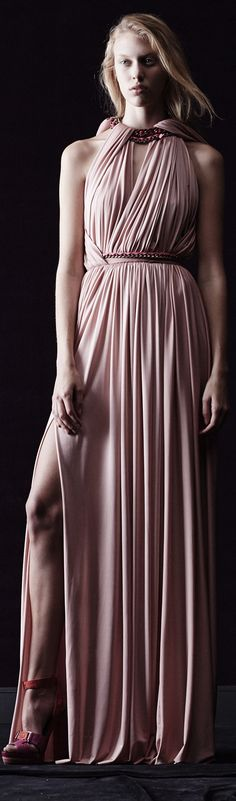 Love the modern Grecian drape. (Lanvin   Resort 2014)