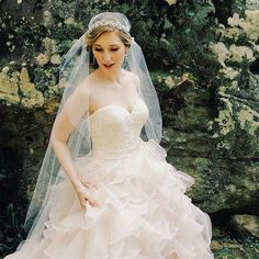 Great Gatsby Cap Veil, Juliet Cap Veil, Vintage Inspired Tulle Veil, Juliet Veil, Rhinestones, Crystals, Art Deco - The Tara Veil
