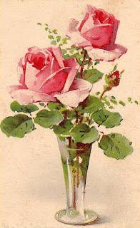 Catherine Klein postcards > love old floral prints Catherine Klein, Vintage Flowers, Vintage Floral, Vintage Art, Pink Flowers, Pink Roses, Art Floral, Floral Prints, Vintage Postcards