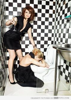 Tina Fey and Amy Poehler...every brunette needs a blonde best friend.