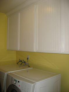 My weekend beadboard wallpaper project/laundry room (pics) - Home Decorating & Design Forum - GardenWeb