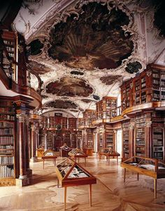 Library at Abadía de Melk in Austria. The most chic place to read in the world.