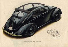 1938/39 Volkswagen Beetle Brochure.