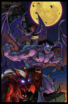 In Gargoyles was one of the biggest Disney cartoon shows ever produced… 90s Cartoons, Disney Cartoons, Thundercats, Gargoyles Cartoon, Disney Gargoyles, Gargoyles Characters, Arte Steampunk, Comic Art, Comic Books
