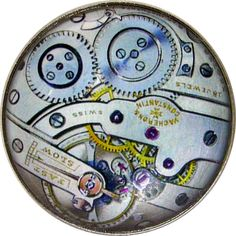 "Crystal Dome Button Steampunk Clock Gears  1 & 3/8"" Size  SP38"
