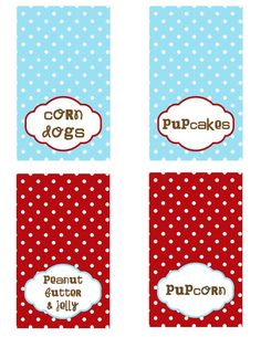 cute printables for a puppy party