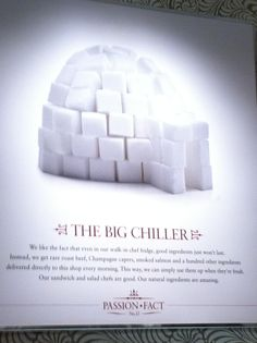Cool photo of sugar cubes hanging at Pret A Manger 179 Broadway (John St.), New York Lots of neat photos on their walls and great cookies :-) Rare Roast Beef, Sugar Cubes, Smoked Salmon, Cool Photos, Broadway, Champagne, Walls, Entertaining, York