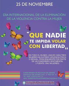 """25 de Nov """"DIA INTERNACIONAL DE LA ELIMINACIÓN DE LA VIOLENCIA CONTRA LA MUJER""""  #QHS #Salta #Argentina #Mujer  #Love #Happy #Instagood #PhotoOfTheDay #Like4Like #Followme #Follow #Instalike #Instamoment #LikeForLike #TagsForLike #Family #Friends  #QueHacemosSalta #GobiernoDeSalta #SaltaTuCiudad #SaltaTanLindaQueEnamora Toda la info que necesitas la podes encontrar aquí  http://quehacemossalta.com/"""