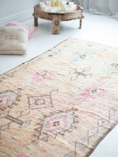 Dusty Diamond Vintage Moroccan Rug – Blush & Ochre Vintage Diamond, Moroccan, Im Not Perfect, Hand Weaving, Area Rugs, Blush, Home Decor, Hand Knitting, Rugs