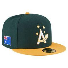 Men s Australia Baseball New Era Green Yellow 2017 World Baseball Classic 59FIFTY  Fitted Hat  0d31ad73f61