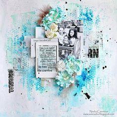 #papercrafting #scrapbooking #layout - #MixedMedia layout Tutorial. Found on youtube.com - Wendy Schultz ~ Tutorials.