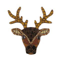 DIY mozaiekpakket rendier, reindeer mosaic