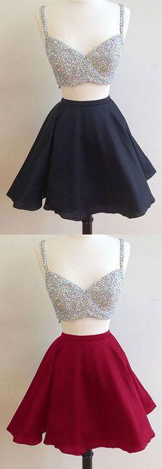 homecoming dress,homecoming dresses,short homecoming dress, two-piece homecoming dress
