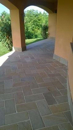 Bamboo Construction, Front Door Design, Tile Floor, Landscaping, Sweet Home, Sidewalk, Villa, Doors, Garden