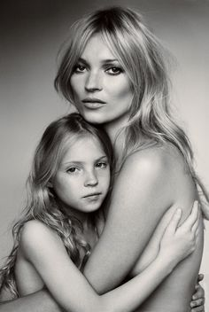 love this mother daughter black and white