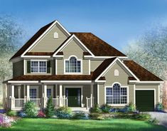 This country design floor plan is 2428 sq ft and has 3 bedrooms and has 2 bathrooms. Vestibule, Architectural Design House Plans, Architecture Design, Surface Habitable, Country Style House Plans, Traditional House Plans, Open Layout, Sims House, Good House