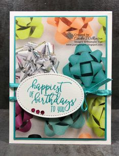 "1 1/8"" Scallop Circle Punch, 3/8"" Metallic-Edged Ribbon, Banner Triple Punch, Big Shot, Clear Wink of Stella, Everyday Label Punch, Glitter & Clear Epoxy Shapes, Myths & Magic 6"" x 6"" Glimmer Paper, Picture Perfect Birthday Stamp set, Picture Perfect Party dsp, Shimmer Ribbon Pack (SAB), Starburst Punch, Stitched Shapes Framelits, Stampin' Up!, Birthday, DIY"