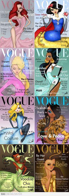 Disney Princesses x Vogue