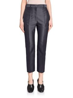 JIL SANDER Venezia Shiny Slim Pants. #jilsander #cloth #pants