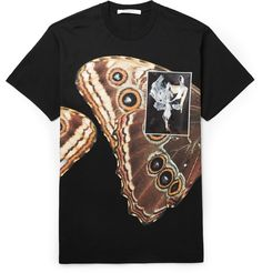 Givenchy - Columbian-Fit Butterly-Print T-Shirt MR PORTER