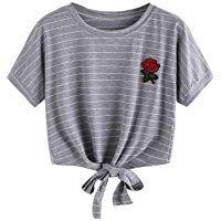 2017 Fashion Summer Kawaii Embroidery Rose Print Aliens T Shirts Women Short Sleeve Tops Tees Casual Female Pink T-shirt Ukraine Shirt Embroidery, Rose Embroidery, Embroidered Shirts, Embroidery Patterns, Cropped Tops, T Shirt And Shorts, Grey Shirt, Casual T Shirts, Cute Shirts