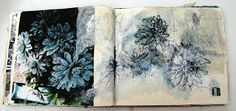 Sketchbook Memento Mori: Sketchbook use of photographs to build up sketchbook imagery; by Mandy Pattullo.