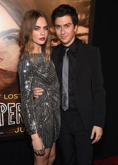 Cara Delevingne and Nat Wolff Attend the 'Paper Towns' New York Premiere